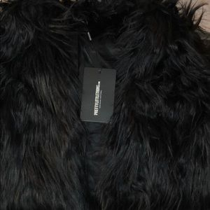 Fur shaggy cropped jacket